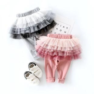 女寶寶褲裙秋冬裝加絨女童假兩件裙褲嬰兒褲子兒童打底褲外穿洋氣