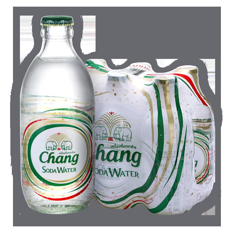 【抢先购】CHANG泰象牌苏打水0糖整箱泰国进口气泡水325ml*6凑单