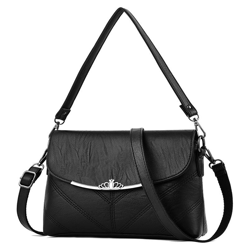 气质妈妈包小方包百搭女包单肩斜挎包女2020新款时尚中年女士包包