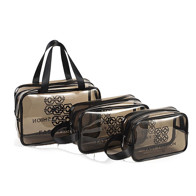 网红化妆包便携旅行女防水透明洗漱包大号护肤品收纳袋拉链盒