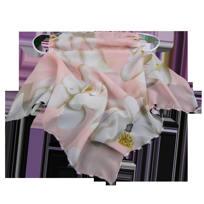 围巾口罩一体防晒苏州丝巾小围脖夏季面纱网红纱巾女薄款时尚护颈