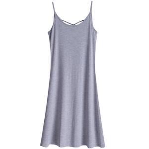 夏季新款纯色内搭吊带打底裙连衣裙