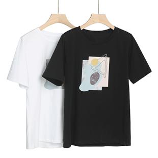 歐洲站白色T恤女短袖純棉2020年夏季新款寬鬆網紅超火ins潮體恤衫