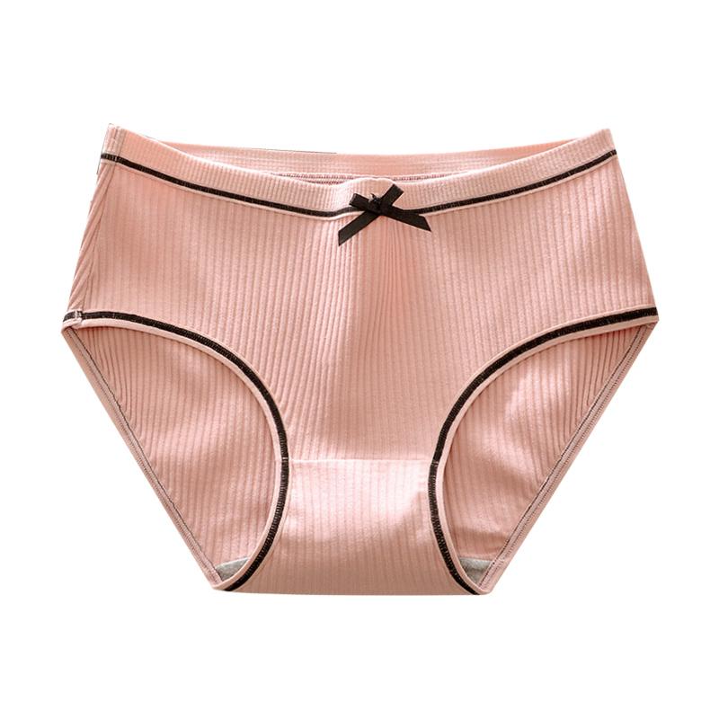 内裤女纯棉抗菌少女可爱高腰韩版学生低腰日系收腹中腰透气三角裤