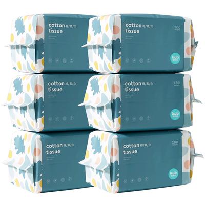 【可优比】婴儿棉柔巾加厚100抽6包