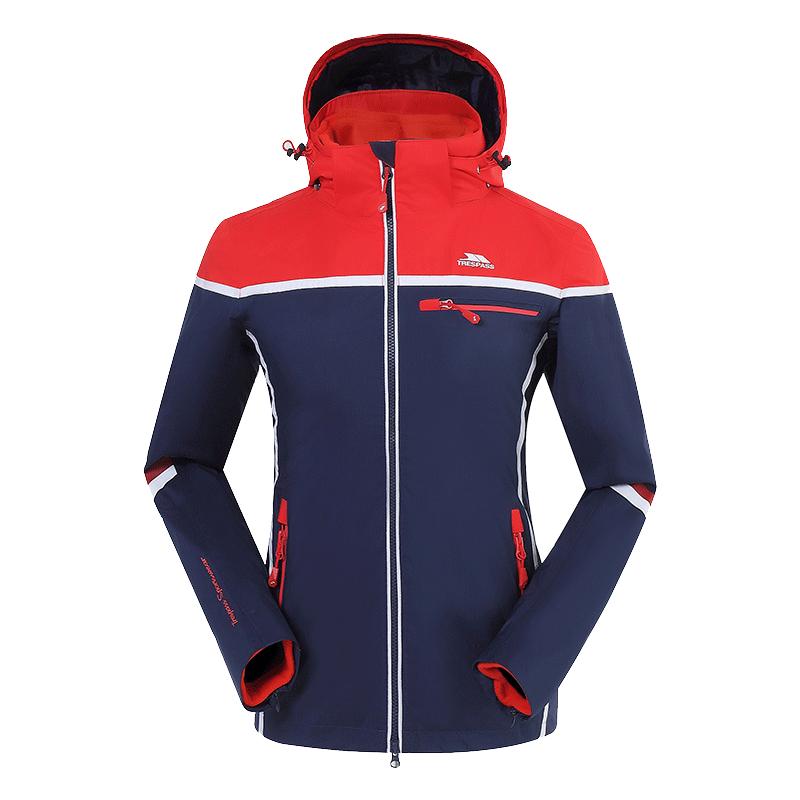英国趣越冲锋衣男潮牌冬季三合一两件套女户外加绒加厚登山服外套