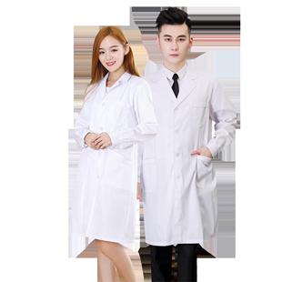 白大褂短袖女長袖醫生服夏季天薄款衣美容院護士工作服學生實驗服