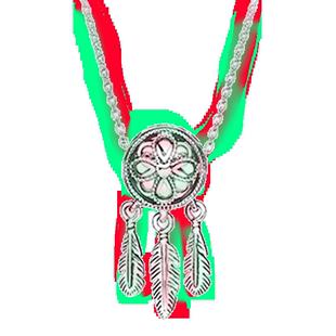 pandora潘多拉正品項鍊女925銀鎖骨鏈斑斕之夢神聖捕夢網ZT0132