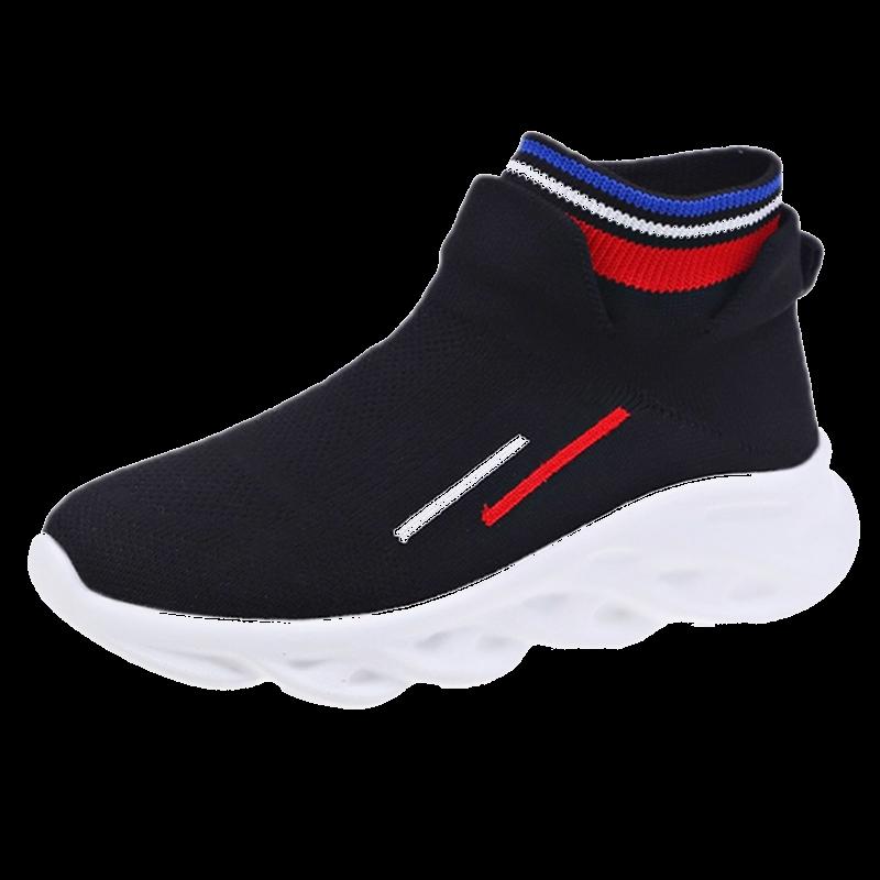 弹力袜靴子女2019秋季网红袜子鞋超火透气针织老爹高帮休闲运动鞋