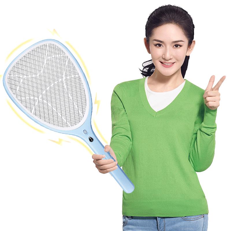 久量电蚊拍充电式家用强力电池多功能LED灯电蝇拍打苍蝇灭蚊子拍