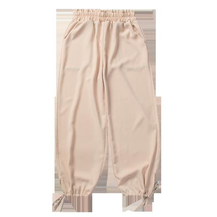 雪纺灯笼裤夏薄款高腰垂感哈伦裤