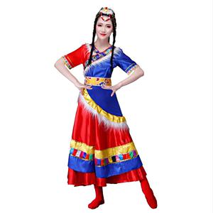 依知花新款2019藏族演出成人舞长裙
