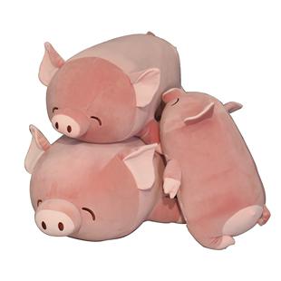 可愛超軟趴豬毛絨玩具小豬豬公仔玩偶大娃娃牀上抱着睡覺抱枕女生