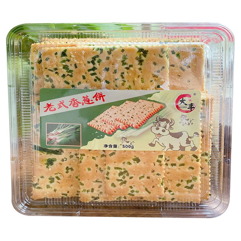 大丰老式香葱500g一斤大盒装饼干
