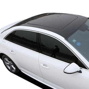 汽車車頂膜亮黑三層低粘仿全景天窗膜車頂改色膜加厚鏡面高亮貼膜