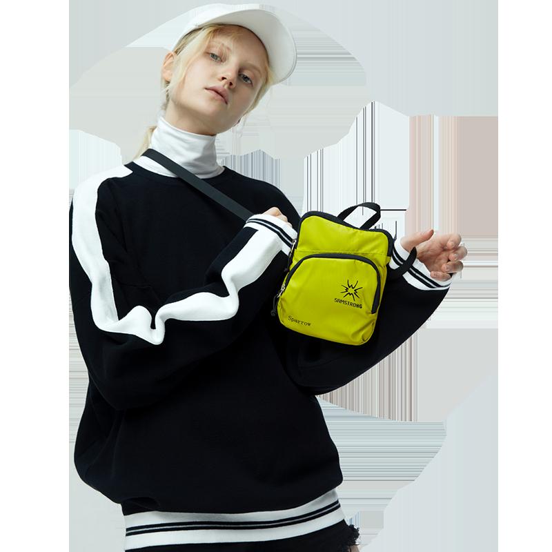 杉木山装小包包女护照包斜挎 户外运动手机包女手拿 潮证件小包男