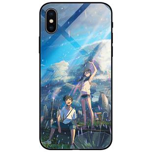 天氣之子手機殼華為p30pro蘋果x情侶款iPhone11新海誠vivo硅膠oppo鋼化玻璃xr小米9/r9/nova5/r15紅米k20pro8
