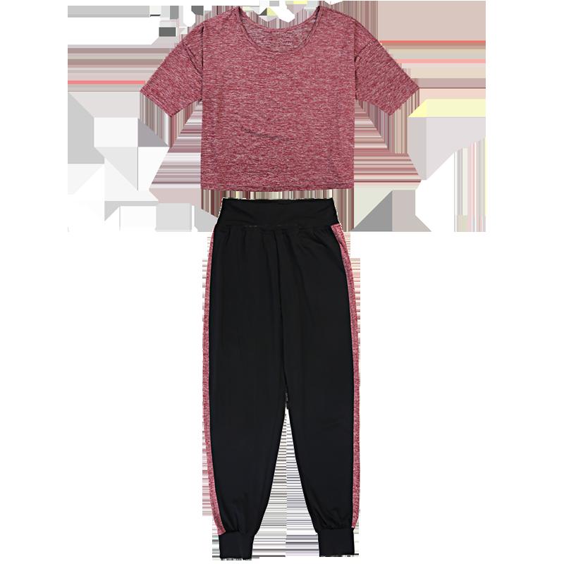 远阳瑜伽春夏新品宽松运动健身服速干三件套装大码罩衫瑜珈服女