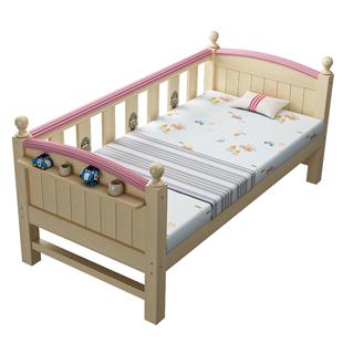 兒童牀加寬牀大人帶護欄小牀拼接牀男孩女孩牀公主牀可移動嬰兒牀