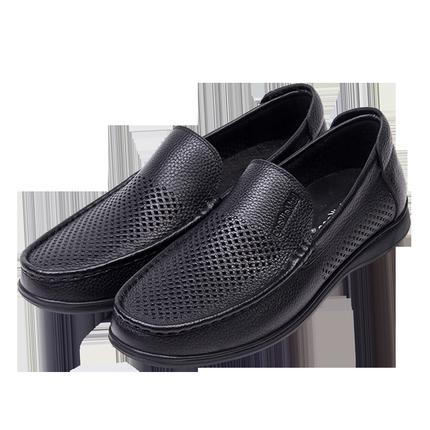 男士凉皮鞋夏季牛皮镂空子真皮凉鞋
