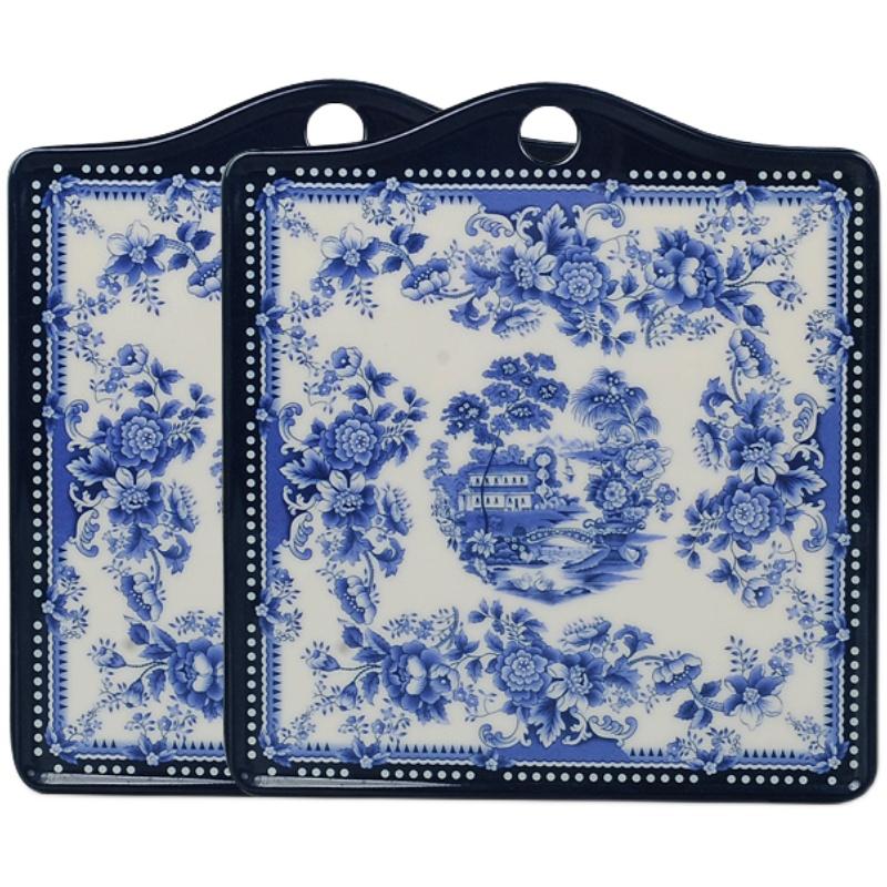 五和青花仿瓷隔热餐垫厨房家用防水防油防烫隔热盘子锅垫密胺桌垫