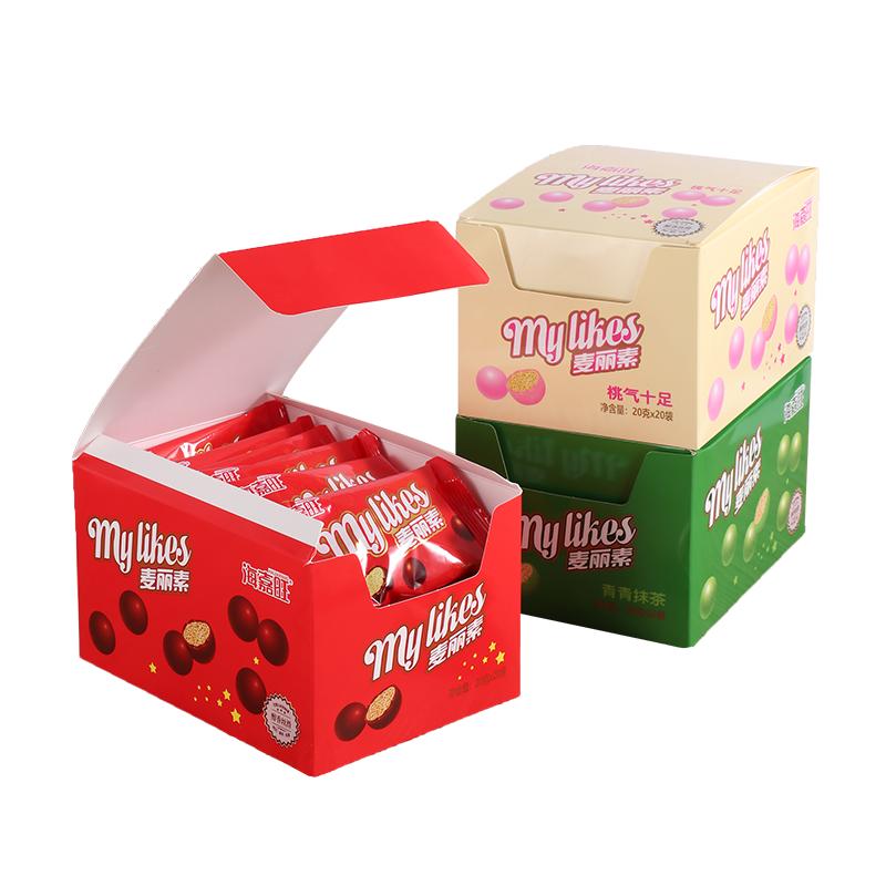 海嘉旺麦丽素盒装巧克力豆夹心球零食朱古力送儿童(代可可脂)