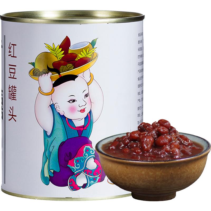 广禧红豆罐头950g 红豆酱加蜜熟糖纳豆即食烘焙奶茶店专用原材料