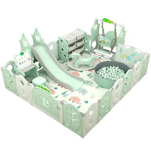 寶寶室內遊戲圍欄兒童遊樂園家用嬰兒安全爬行墊學步防護地上玩具