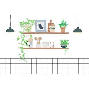 透明厨房防油贴纸耐高温油烟墙贴