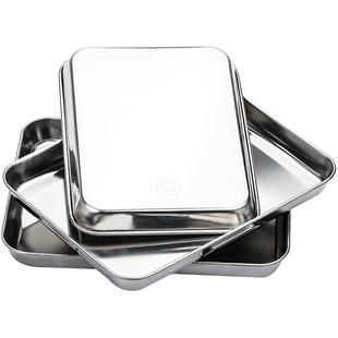 304不鏽鋼托盤長方形自制腸粉蒸盤家用工具套裝涼皮小型專用粉盤