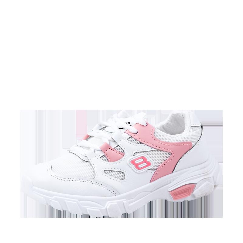 卡堡莱2019春季新款厚底百搭拼色透气运动鞋防滑跑步鞋潮女鞋