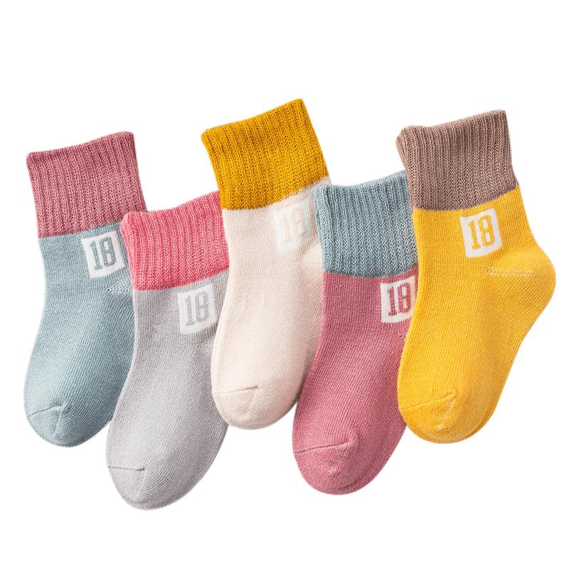 儿童袜子加厚秋冬男女童纯棉袜子松口袜儿童地板袜婴儿袜宝宝袜子
