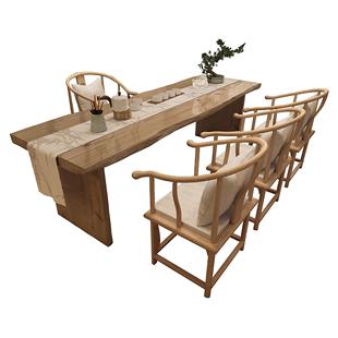 茶桌椅組合中式茶台套裝實木商用現代簡約辦公室新中式喝茶桌椅