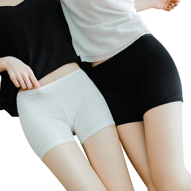 南极人蕾丝安全裤防走光女夏冰丝无痕大码外穿薄款不卷边保险短裤