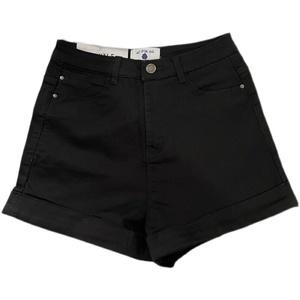 夏季欧美包臀高腰牛仔宽松阔腿裤