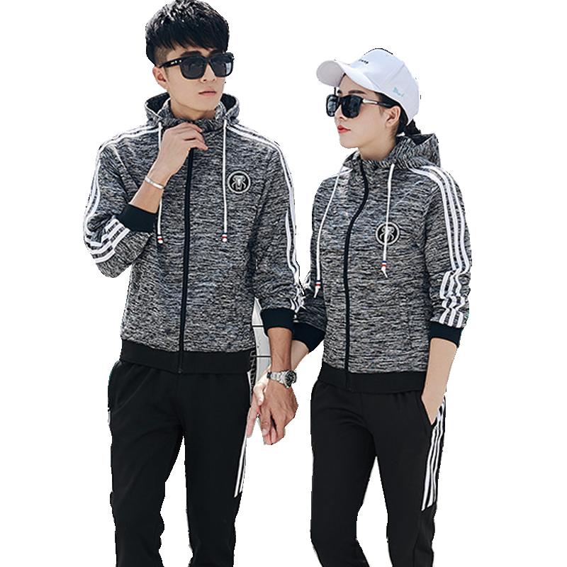 情侣运动套装春秋季2019新款韩版休闲男女卫衣外套运动服2件套潮
