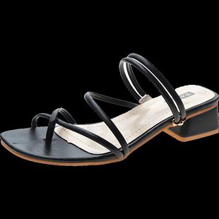一鞋兩穿女涼鞋中跟百搭2020夏季新款網紅時尚拖鞋温柔風仙女鞋潮
