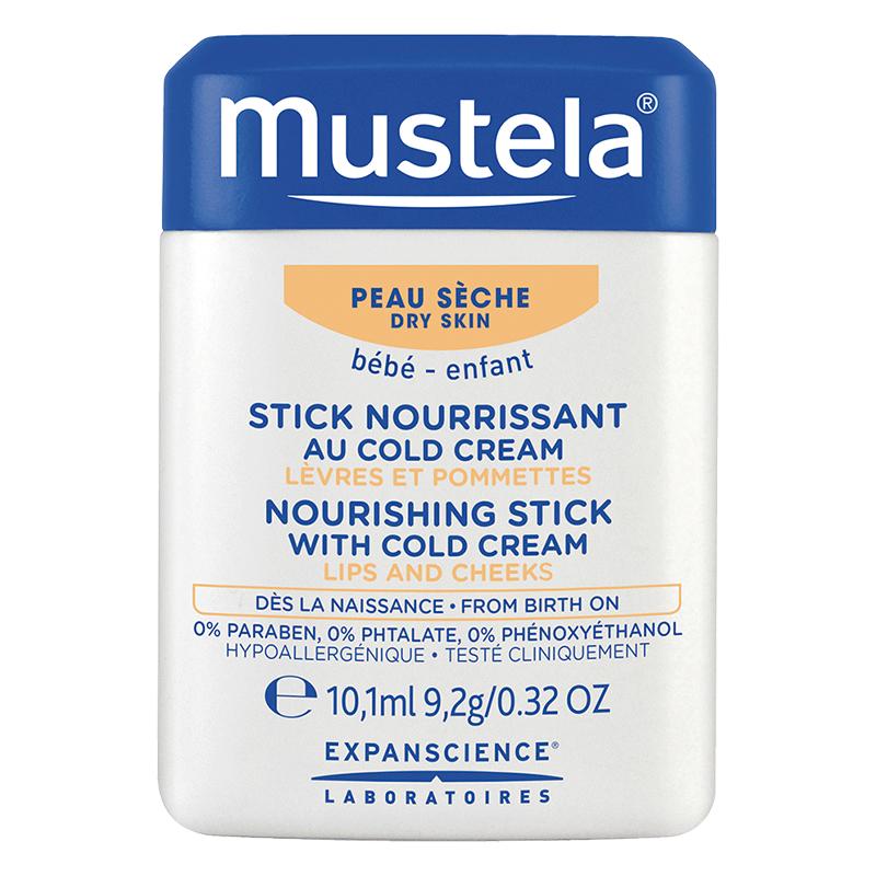 mustela妙思乐冷霜滋养唇颊两用膏10.1ml植物配方补水保湿舒缓