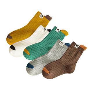花可棉儿童秋冬纯棉3-5-7-9中筒袜