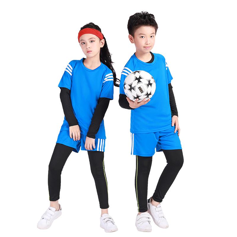 儿童紧身衣训练服男童速干衣跑步健身服夏季打底篮球足球运动套装