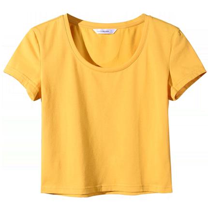 白色女短袖2019新款夏修身纯色t恤