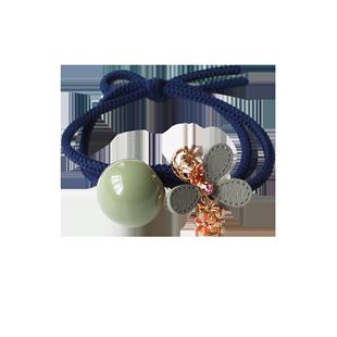 bm小花頭繩網紅可愛少女髮圈泫雅風ins森系發繩扎頭髮橡皮筋頭飾