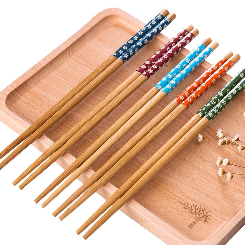 【20双才9.9】家用实木防霉防滑筷子