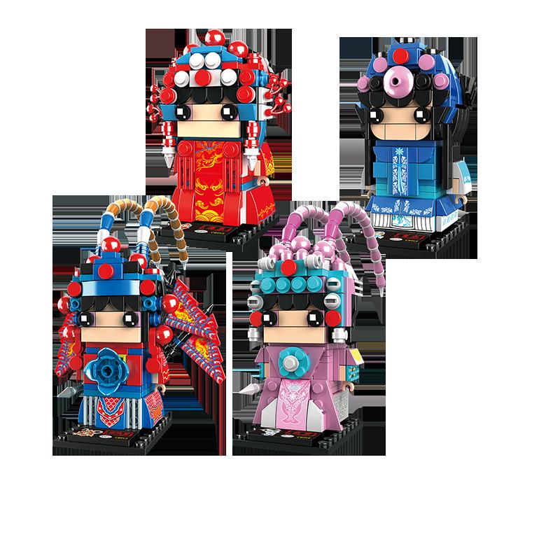 开益国潮系列方头仔刀马旦花旦中国风玩具