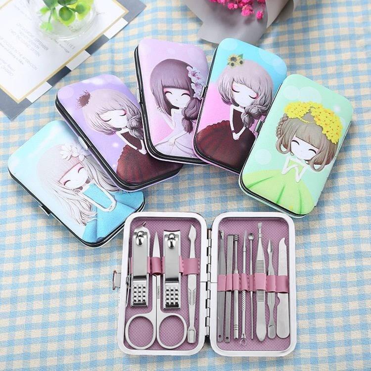 Manicure knife set household stainless steel ear spoon nail clipper manicure tool pedicure scissors single Germany