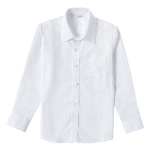 男童白色短袖纯棉学生表演出衬衫