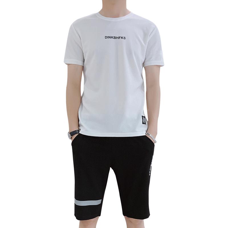 运动套装男夏季2020新款夏装潮流短袖衣服夏天男士休闲套装两件套