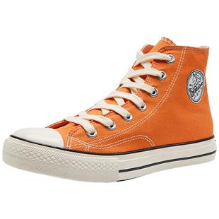 回力高幫帆布鞋女1970S情侶鞋小髒橘女鞋學生爆改鞋基礎百搭板鞋