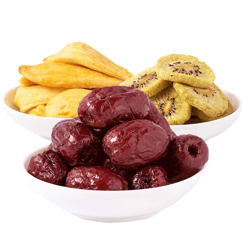 水果三兄弟 综合水果干菠萝蜜干果混合装脱水水果脆干片蔬果零食