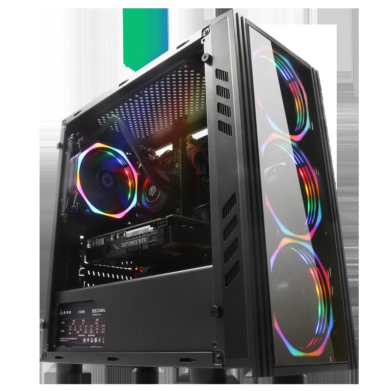 AMD锐龙R5 2600/X/3600 RX580/590吃鸡游戏主机diy迷你台式电脑组装机高配整机全套三国全面战争英雄联盟LOL